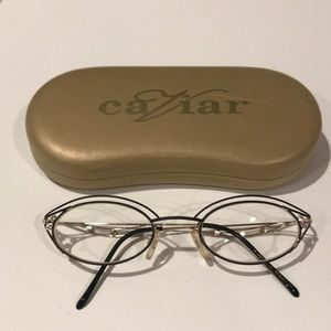 Accessories - Ladies Caviar 1907 metal frame with crystals